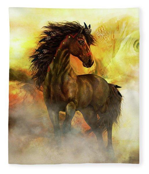 Chitto Spirit Horse Fleece Blanket