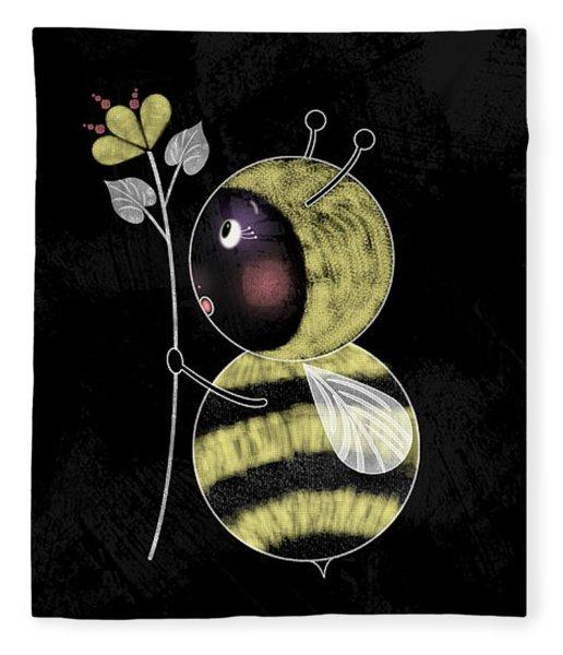 B Is For Bumble Bee Fleece Blanket