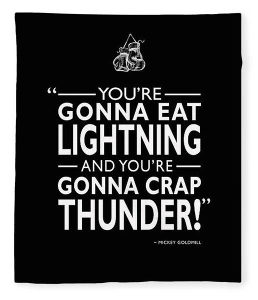 Gonna Eat Lightning Fleece Blanket