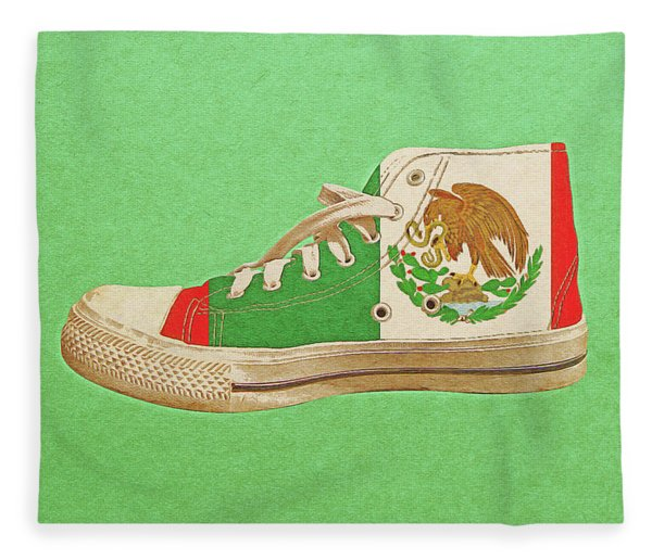 Hi Top With Mexican Flag Fleece Blanket