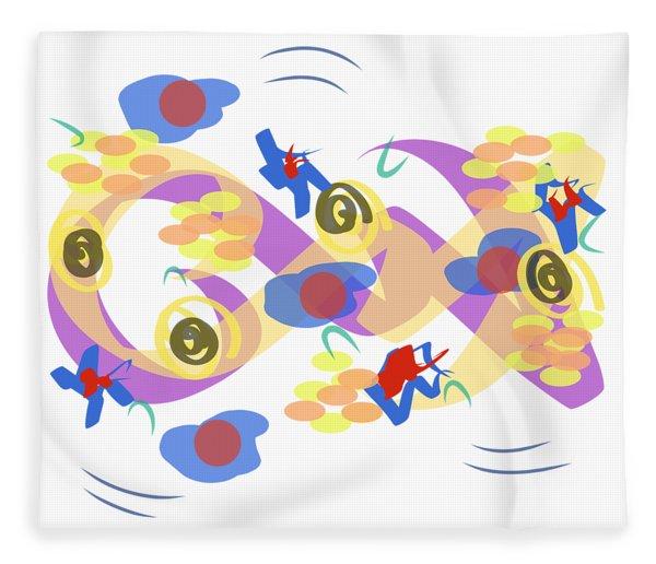 Fleece Blanket featuring the digital art Abstract Garden #5 by Bee-Bee Deigner