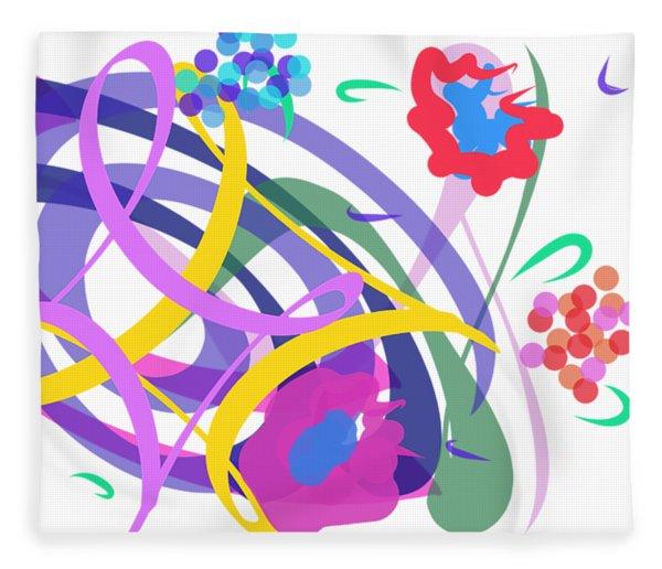 Fleece Blanket featuring the digital art Abstract Garden #2 by Bee-Bee Deigner