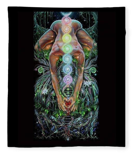 Sacred Cycle Fleece Blanket