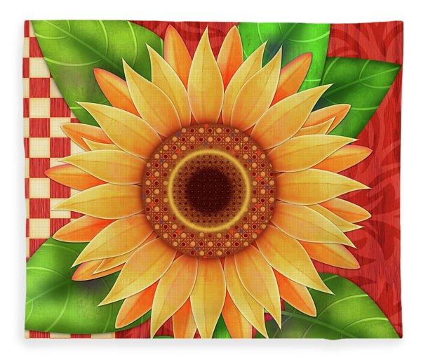 Country Sunflower Fleece Blanket