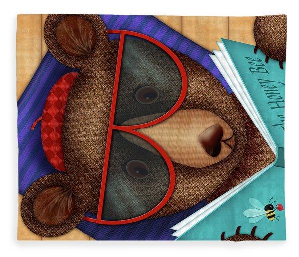B Is For Brown Bear Fleece Blanket