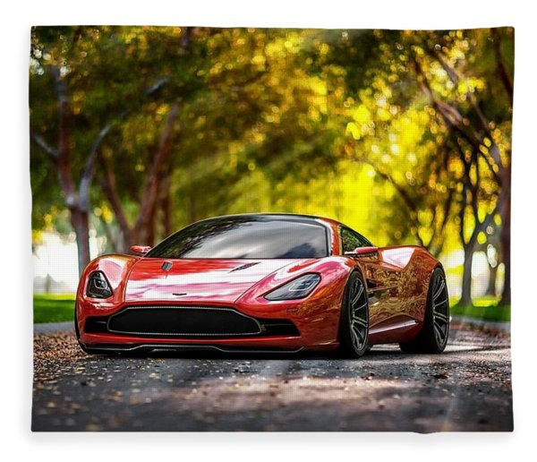 Aston Martin Dbc Fleece Blanket
