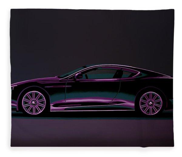 Aston Martin Dbs V12 2007 Painting Fleece Blanket