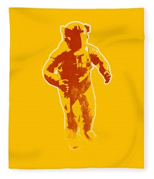 Astronaut Graphic Fleece Blanket