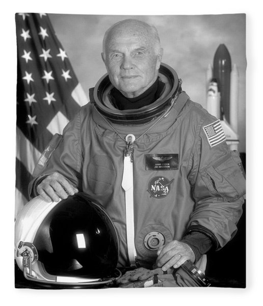 Astronaut John Glenn - 1998 Fleece Blanket