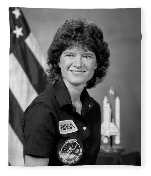 Astronaut Sally Ride  Fleece Blanket