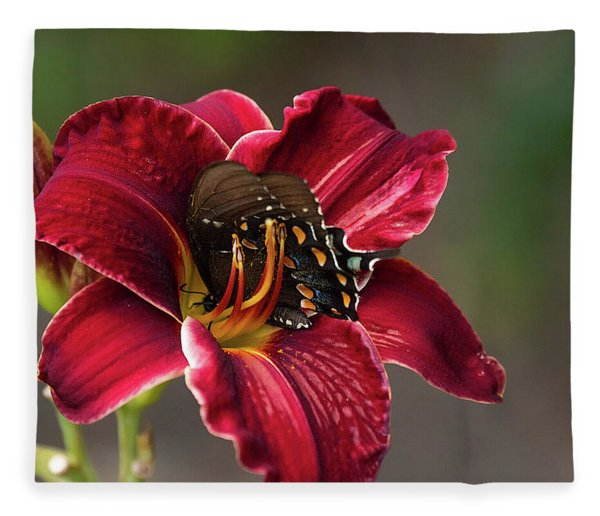 At One With The Orchid Fleece Blanket