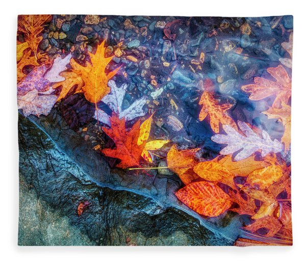 At The Edge Of The Water Painterly Fleece Blanket