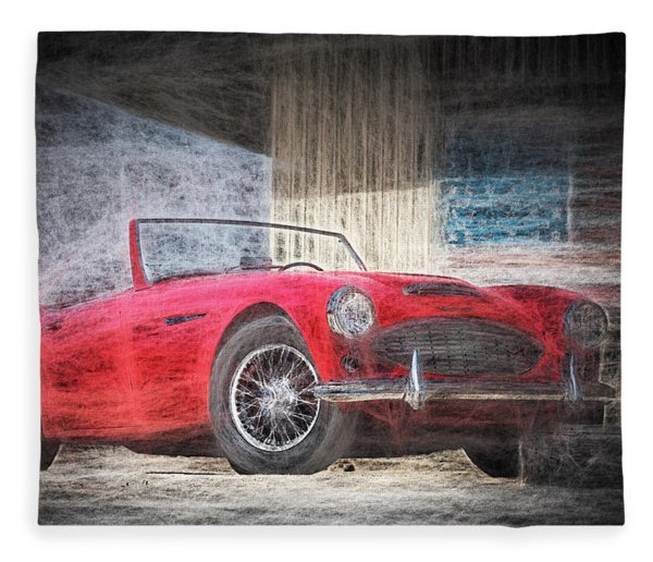 Austin Healey Chalk Study 4 Fleece Blanket