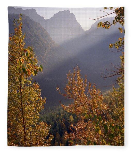 Autumn At Logan Pass Fleece Blanket