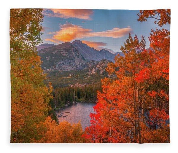 Autumn's Breath Fleece Blanket