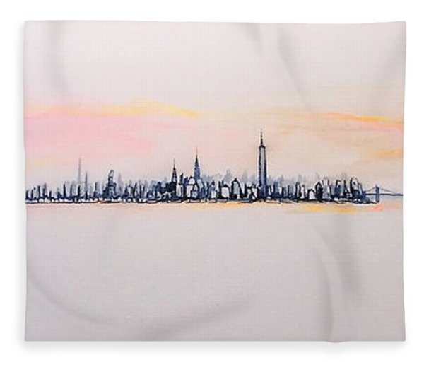 Autumn Comes To Manhattan Fleece Blanket