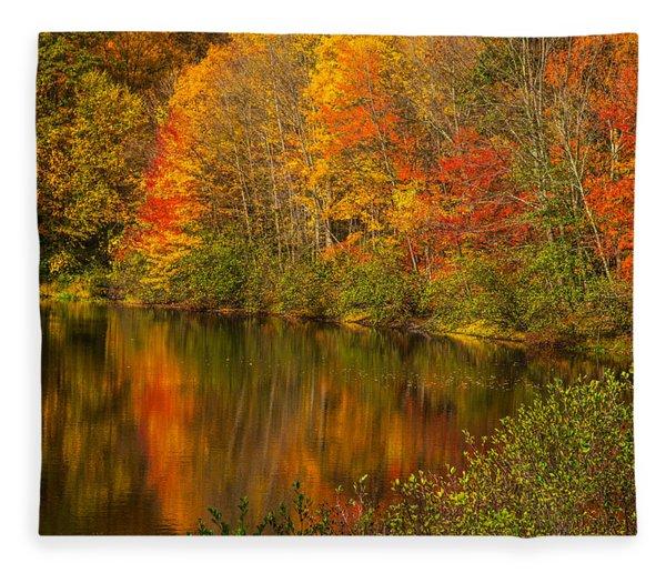 Autumn In Monroe Fleece Blanket