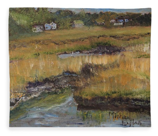 Autumn Marsh Fleece Blanket
