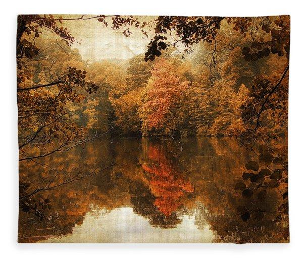 Autumn Reflected Fleece Blanket