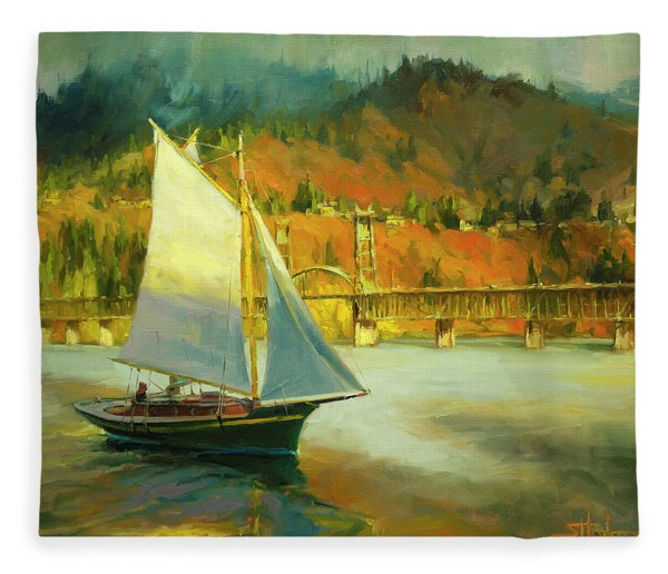 Autumn Sail Fleece Blanket