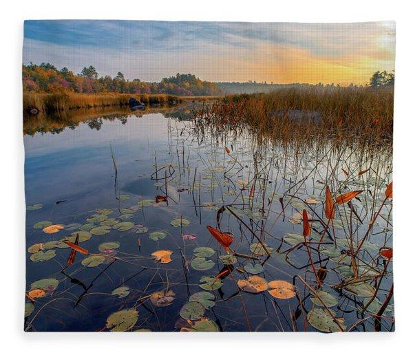 Autumn Sunrise At Compass Pond Fleece Blanket