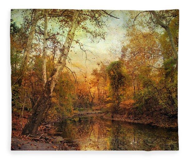 Autumnal Tones Fleece Blanket
