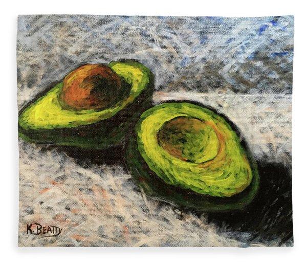 Avocado Study 1 Fleece Blanket