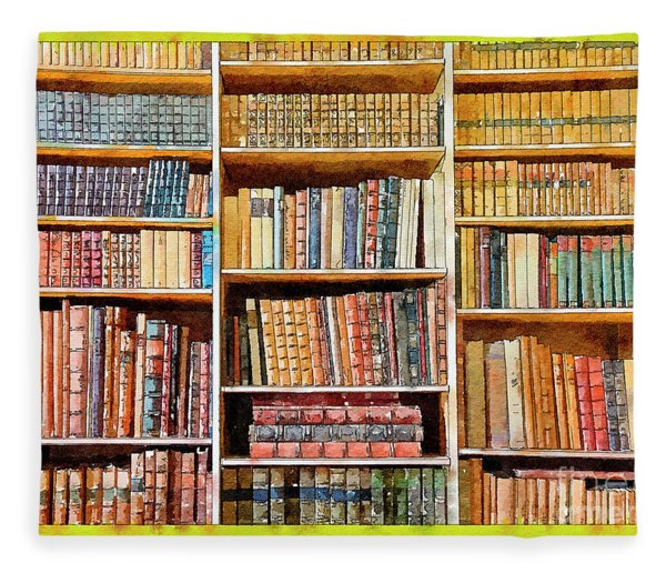 Background From Old Books Fleece Blanket