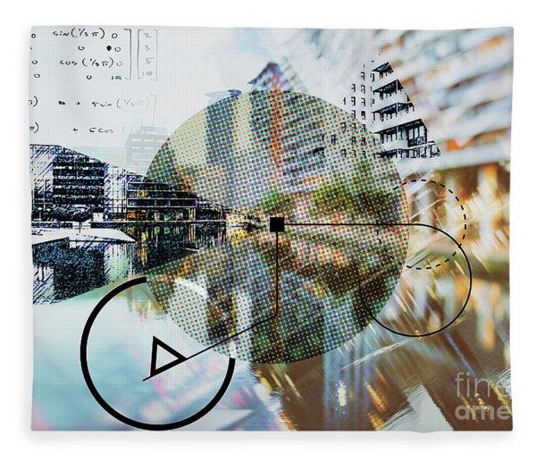 Background Of Architecture  Fleece Blanket