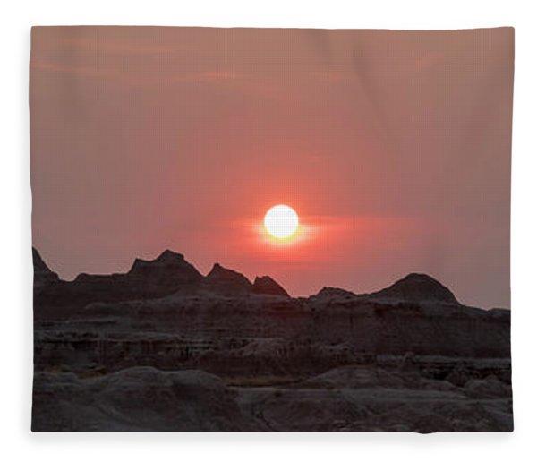 Badlands Sunset Fleece Blanket