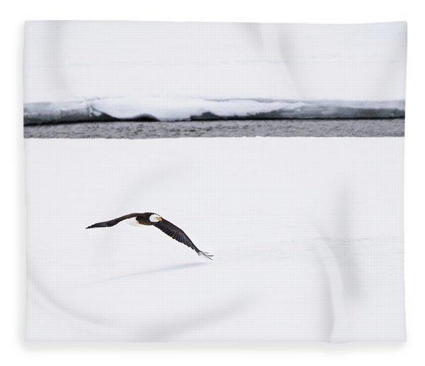 Bald Eagle Fly By Fleece Blanket