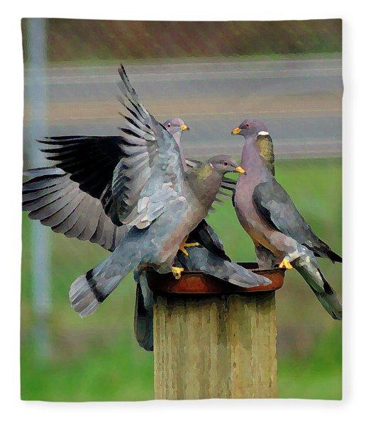 Band-tailed Pigeons #1 Fleece Blanket