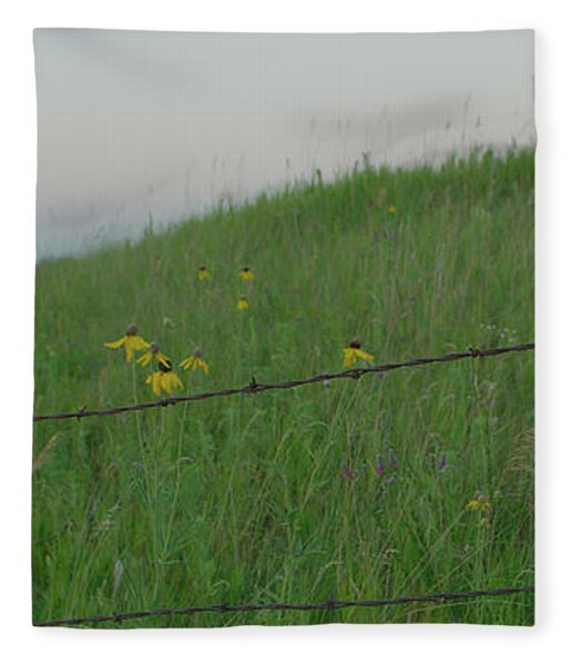 Barb Wire Prairie Fleece Blanket