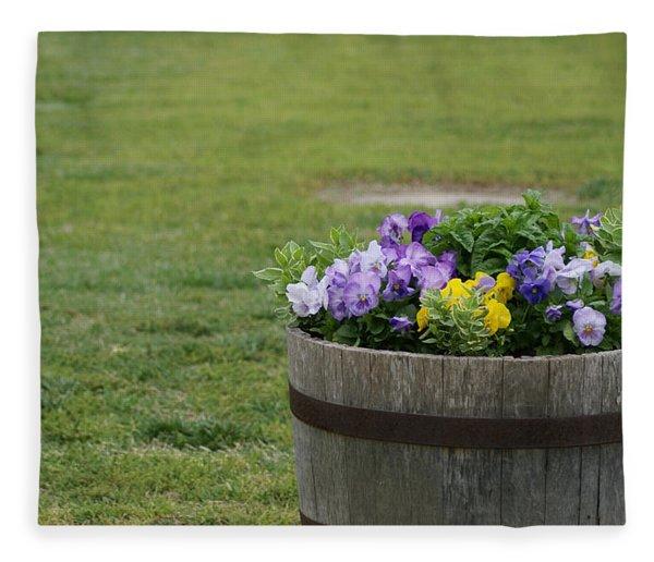 Barrel Of Flowers Fleece Blanket