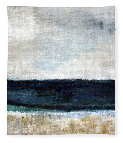 Beach- Abstract Painting Fleece Blanket