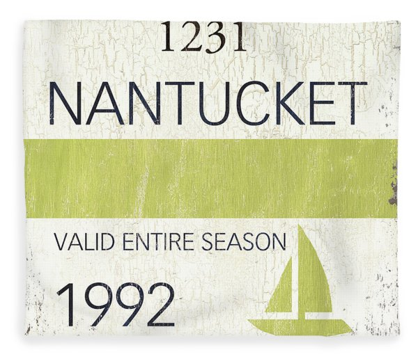 Beach Badge Nantucket Fleece Blanket