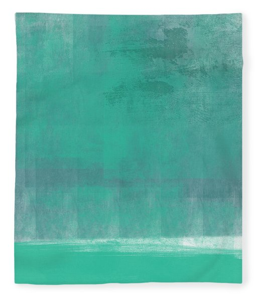 Beach Glass- Abstract Art Fleece Blanket