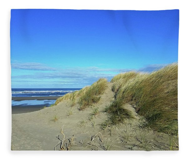 Beach Grass Fleece Blanket