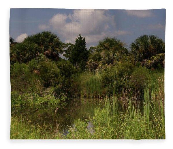 Beautiful Landscape Of Trees Fleece Blanket