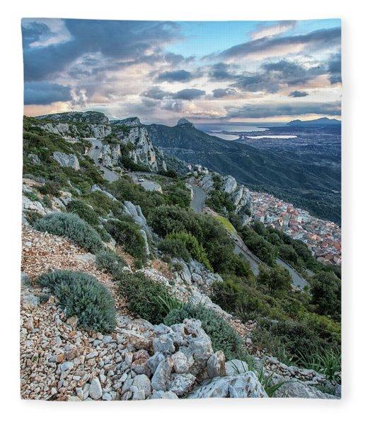 Beautiful View Of Baunei Fleece Blanket