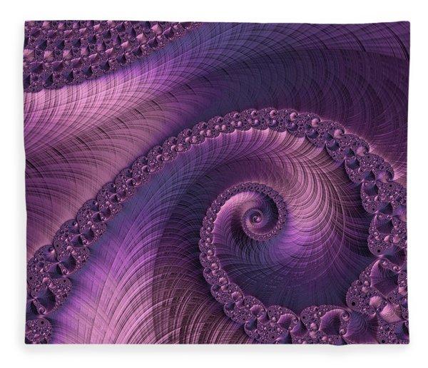 Fleece Blanket featuring the digital art Beauty Of Sorrow by Susan Maxwell Schmidt