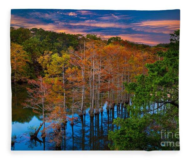 Beavers Bend Twilight Fleece Blanket