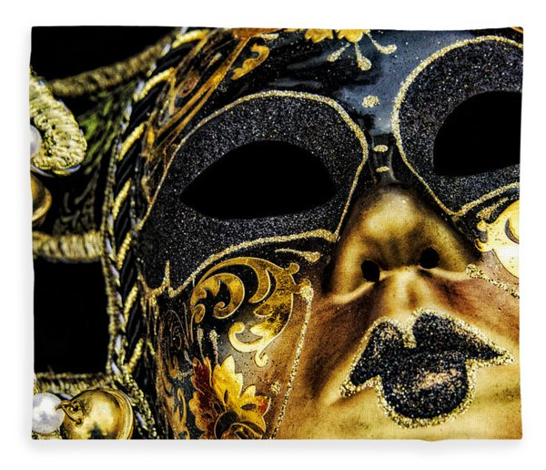 Fleece Blanket featuring the photograph Behind The Mask by Carolyn Marshall