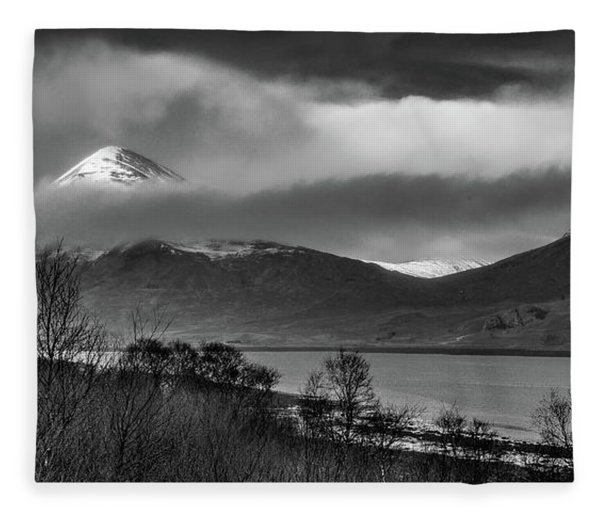 Beinn Na Cro And Loch Slapin, Isle Of Skye Fleece Blanket