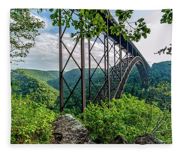 Beneath New River Gorge Bridge Fleece Blanket