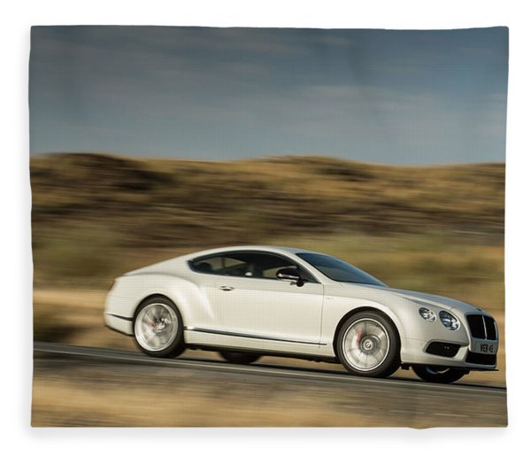 Bentley Continental Gt V8 Fleece Blanket