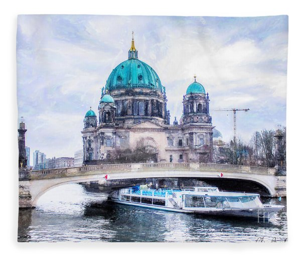 Berliner Dom Fleece Blanket