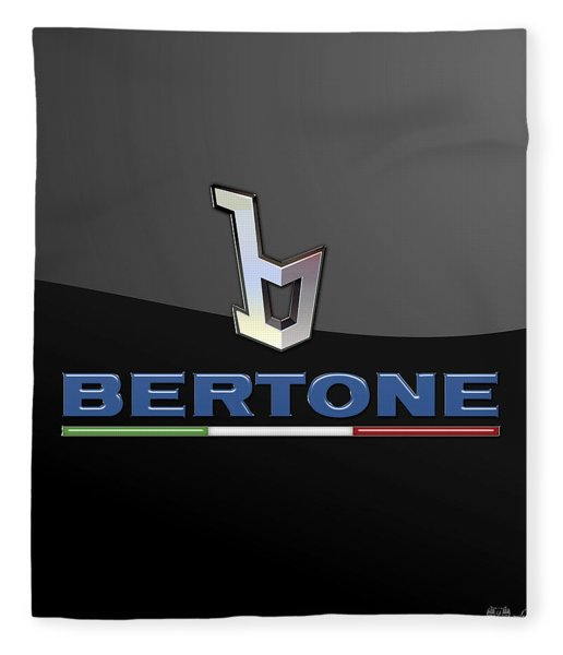 Bertone - 3 D Badge On Black Fleece Blanket