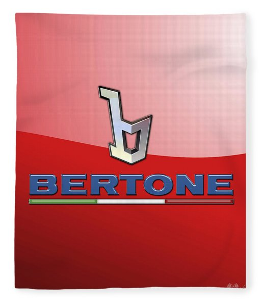 Bertone 3 D Badge On Red Fleece Blanket