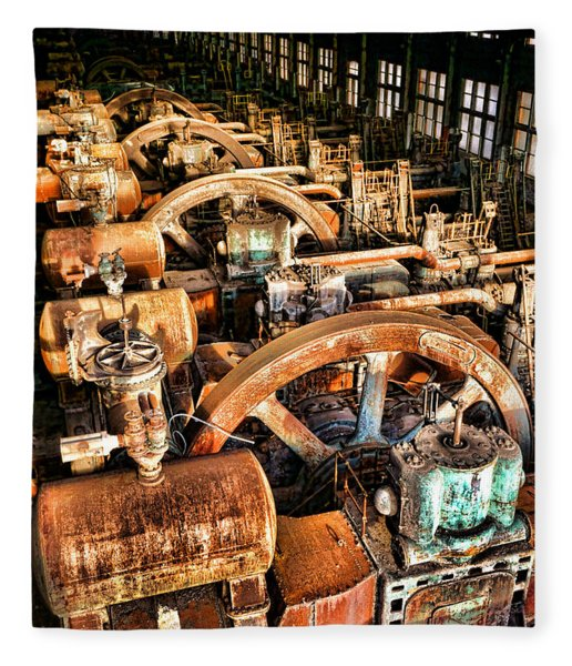 Bethlehem Steel Blower House Fleece Blanket